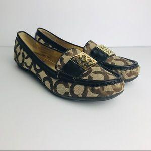 Coach Shoes Women's Size 6.5 B Gold Brown Flats